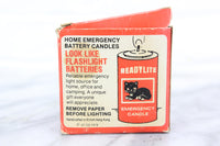 "ReadyLite Home Emergency ""D"" Size Battery Candles in Box, 1978"