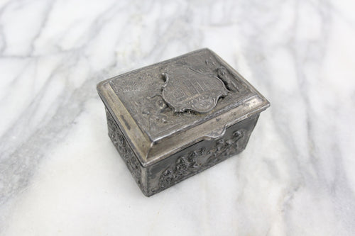 Metal Keepsake Ring Box with Washington's Mansion, Mount Vernon