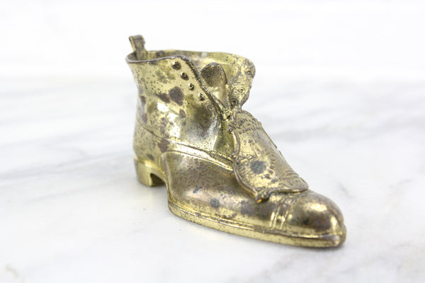 Metal Brass-colored Shoe Souvenir from Portland, Maine
