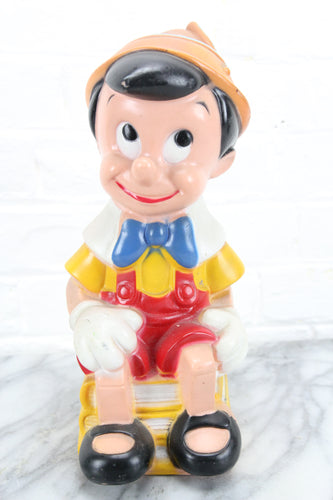 Vinyl Pinocchio Coin Bank by Play Pal Plastics Inc.