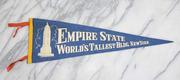 Empire State Building, New York City, New York Souvenir Pennant - 26""
