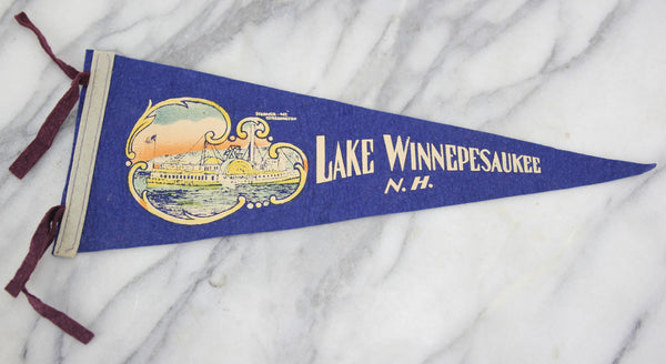 Lake Winnepesaukee, New Hampshire Souvenir Pennant - 16.5""