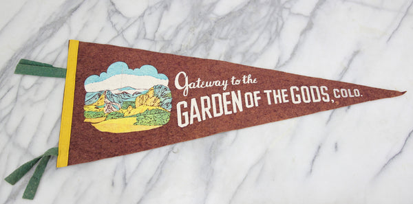 Gateway to the Garden of the Gods, Colorado Souvenir Pennant - 29""