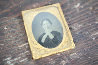 Ambrotype Photograph of an Older Woman with Glasses