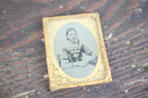 Ambrotype Photograph of a Girl with Braided Hair