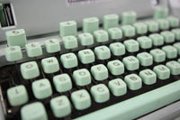 Hermes 3000 Portable Seafoam Green Typewriter with Case, Made in Switzerland, 1967