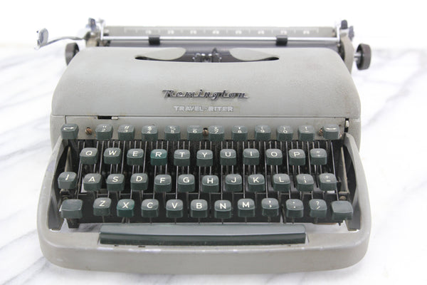 Remington Travel-Riter Portable Typewriter with Case, Made in Holland, 1957