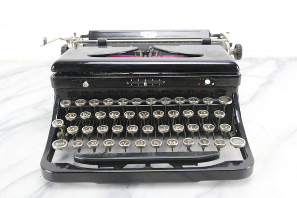"Royal Model ""O"" Portable Typewriter with Case, Made in USA, 1935"