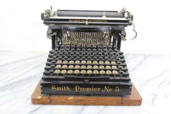 Smith Premier No. 5 Upright Typewriter with Case, Made in USA, 1902