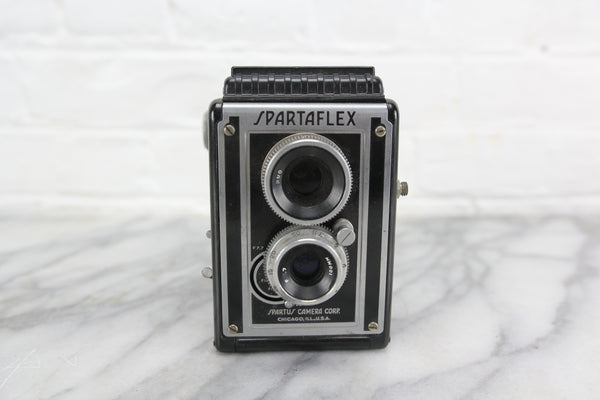 Spartaflex Twin Lens Reflex (TLR) Camera by Spartus Camera Corp., Chicago, IL
