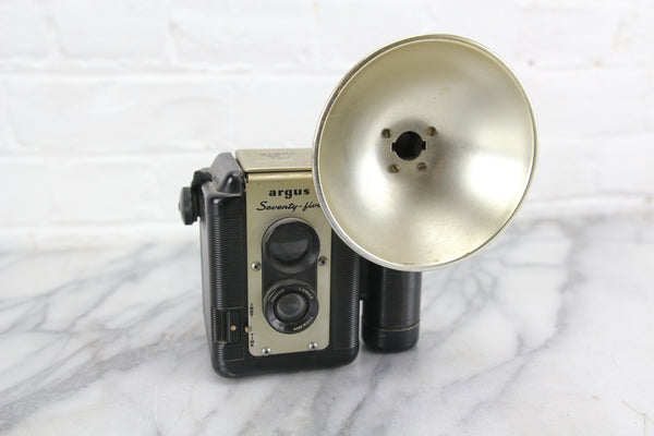 Argus Seventy-Five Twin Lens Reflex (TLR) Camera with Flash Attachment