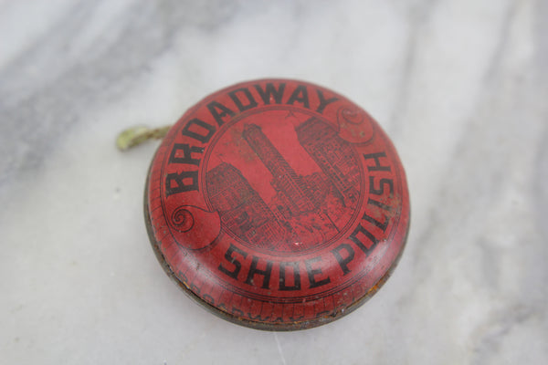 Broadway Shoe Polish Size 2-1/2 Tin - New York City, NY