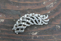 Sterling Silver Feather Brooch