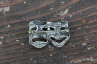 Sterling Silver Sock and Buskin Comedy and Tragedy Theater Brooch