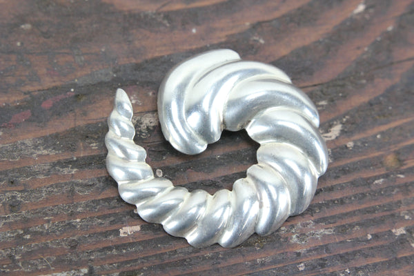 Mexico Sterling Silver Spiral Conch Shell Brooch or Pendant