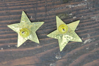Jeep Collins Sterling Silver and Brass Star Earrings