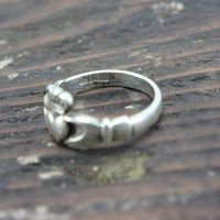 Sterling Silver Claddagh Ring - Size 7.75