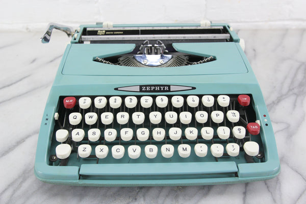 Smith Corona Zephyr Portable Typewriter With Case, Made in England, 1960s