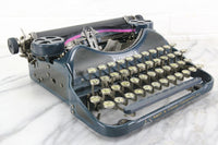 Corona 4 Portable Typewriter in Channel Blue, Made in USA, 1927