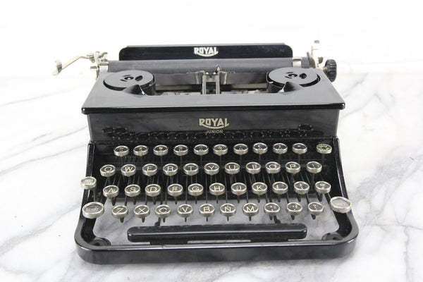 Royal Junior Portable Typewriter with Case, Made in USA, 1937