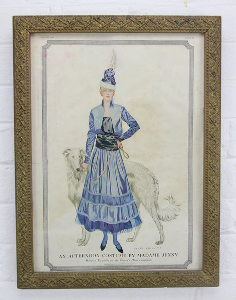 Fashion Print of Woman with Dog for Woman's Home Companion, 1915 - 12.5 x 16.5""