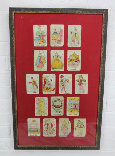 Parker Bros. Cinderella Cards Framed Display - 16 x 24.5""