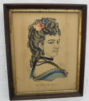 The New York Beauty by Currier & Ives Color Lithograph Print - 15.5 x 18.5""