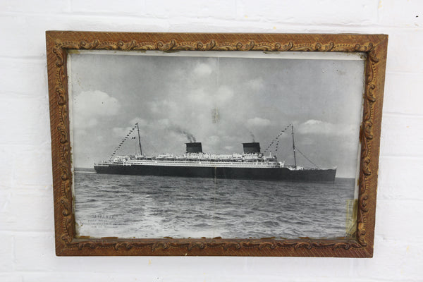 Framed Photograph Print of German Ocean Liner SS Liberté - 18 x 13""