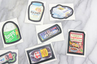 Topps Wacky Packages Album Stickers Collectible Trading Cards, One Pack, 1986
