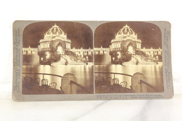 Festival Hall, World's Fair, St. Louis, Missouri Stereocard, Underwood & Underwood, 1904