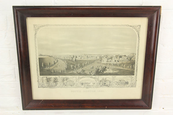 South Boston, 1859 Print in Wood Frame - 19.5 x 15""