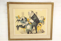 William Gropper Signed Political Cartoon Lithograph Print - 28.5 x 24""