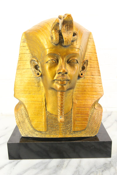 Plaster Egyptian Pharaoh's Head Bust Sculpture by Austin Productions,1977