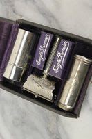 Eagle Premier $2.50 Lather Catcher Safety Razor Kit in Leather Case