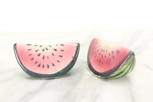 Watermelons Porcelain Salt and Pepper Shakers