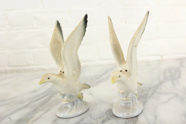 Seagulls Porcelain Salt and Pepper Shakers, Made in Japan