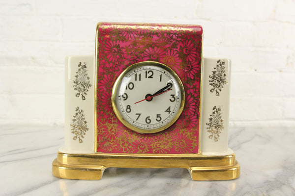 Porcelain Ceramic Electric Clock Model #100 by WM. L. Gilbert Clock Corp.