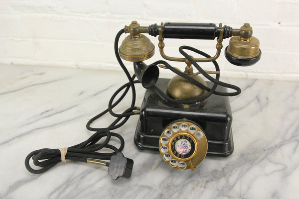 Model JN-4 Antique French Style Rotary Telephone, Made in Japan