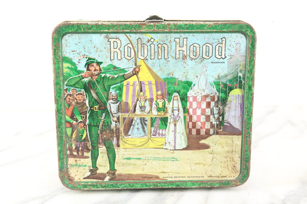 Robin Hood Aladdin Brand Metal Lunch Box, 1956