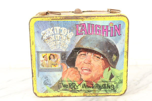 Rowan & Martin's Laugh-In Aladdin Brand Metal Lunch Box, 1968