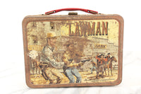 Lawman Thermos Brand Metal Lunch Box, 1961