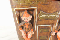 Elf Schoolhouse Ceramic Cookie Jar