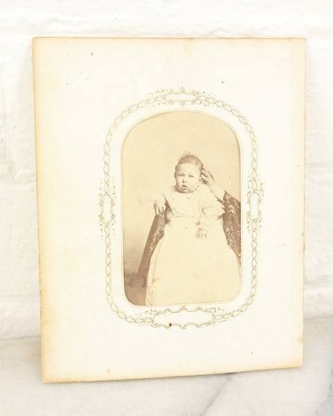 Hidden Mother Cabinet Card Photograph with Visible Hand