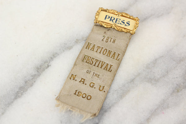 28th National Festival of the North American Gymnastics Union Press Ribbon, 1900
