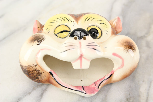 Winking Squirrel Chipmunk Head Smoker Ashtray