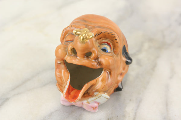 Clown Hobo Laughing Head Smoker Ashtray, Made in Japan