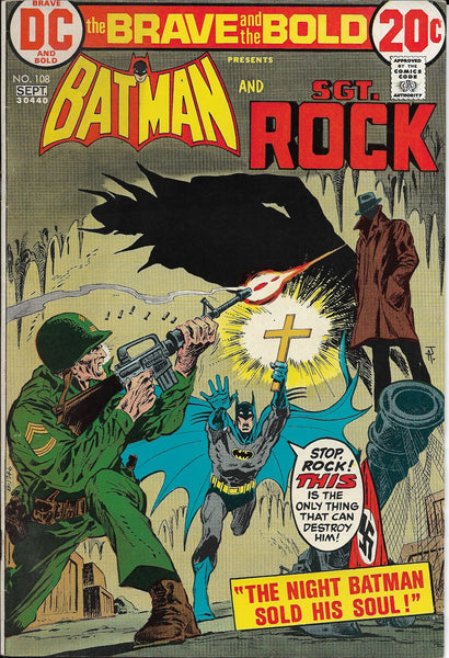 The Brave and the Bold No. 108, Featuring Batman & Sgt. Rock, DC Comics, September 1973