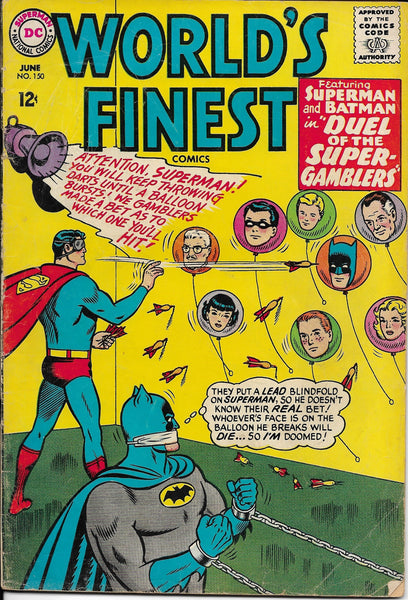 "World's Finest No. 150, ""Duel of the Super Gamblers,"" DC Comics, June 1965"