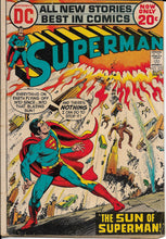 "Load image into Gallery viewer, Superman No. 255, ""The Sun of Superman,"" DC Comics, August 1972"