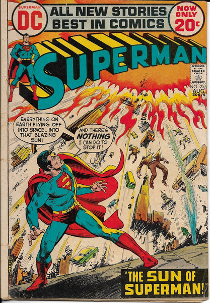 "Superman No. 255, ""The Sun of Superman,"" DC Comics, August 1972"